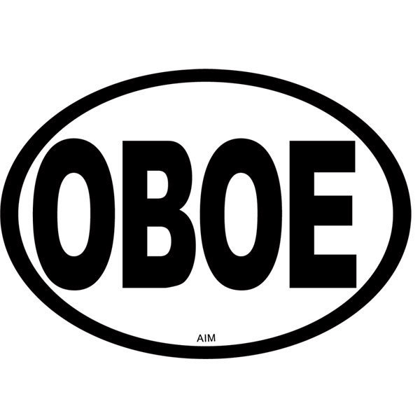 View larger image of Oboe Oval Magnet