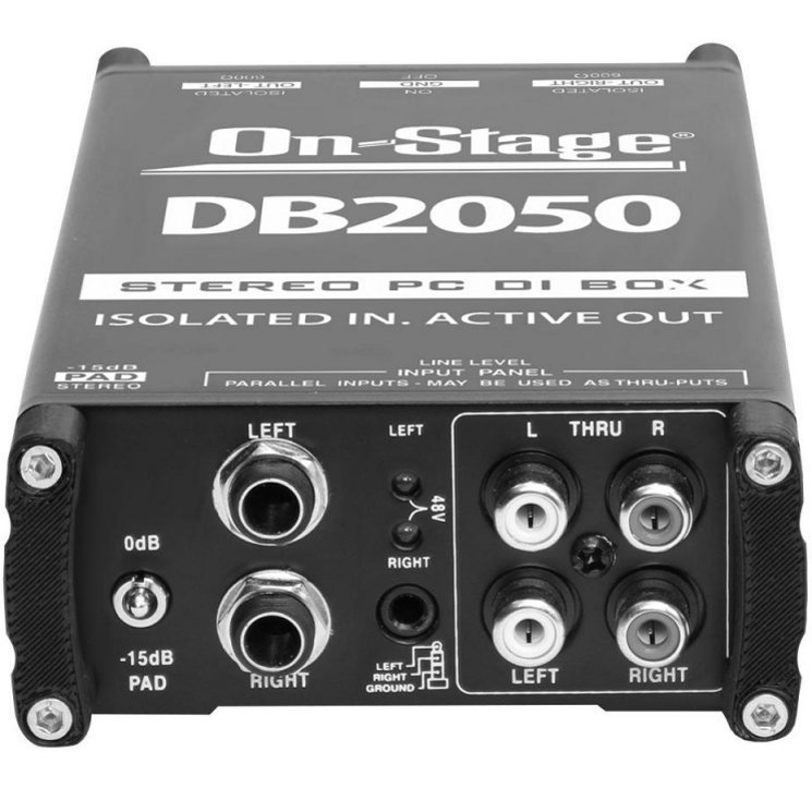 View larger image of On-Stage Active Stereo Multi-Media DI Box