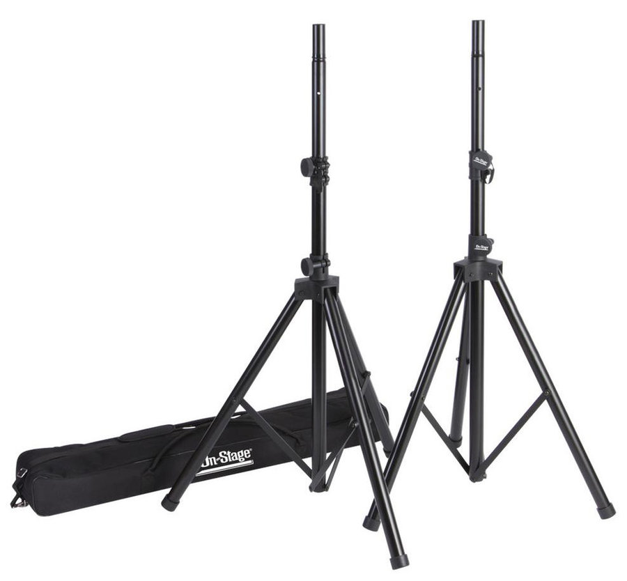 View larger image of On-Stage All-Aluminum Speaker Stand Pak with Zippered Bag - Pair