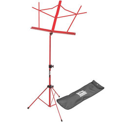 On-Stage Compact Sheet Music Stand - Red