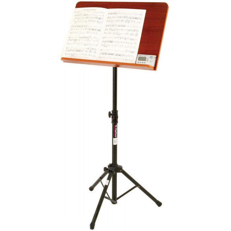 View larger image of On-Stage Conducor Stand with Wide Rosewood Bookplate