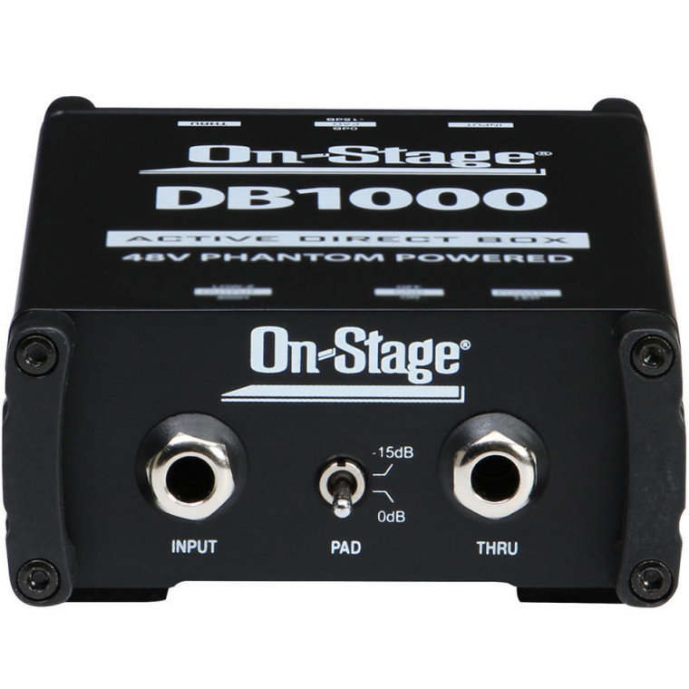 View larger image of On-Stage DB1000 Active Direct Box