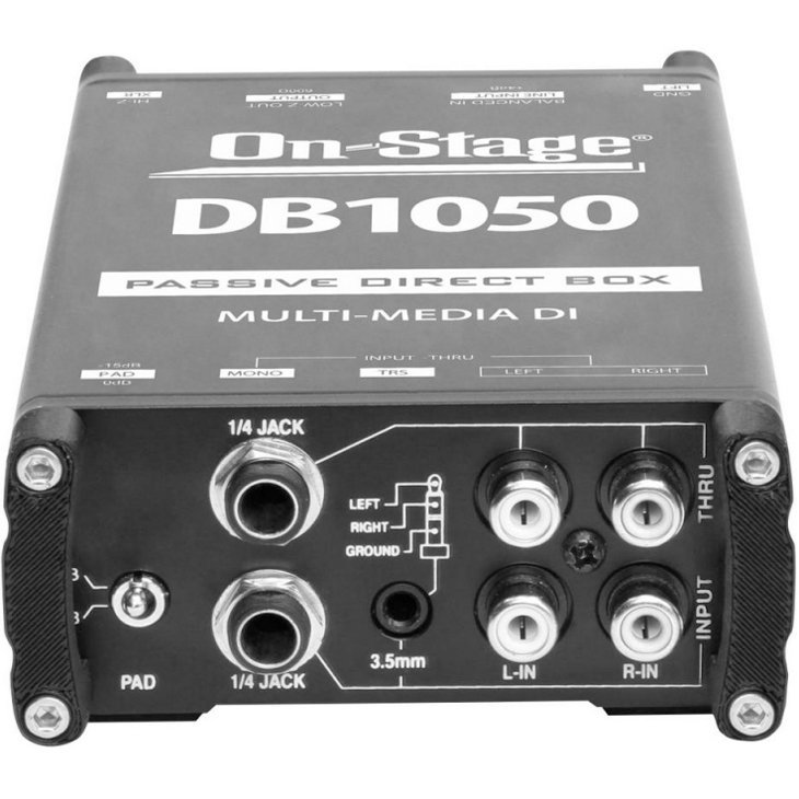 View larger image of On-Stage DB1050 Passive Multi-Media Direct Box