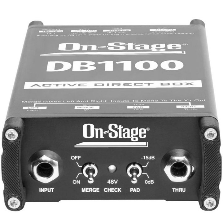 View larger image of On-Stage DB1100 Acive Direct Box with Stereo-to-Mono