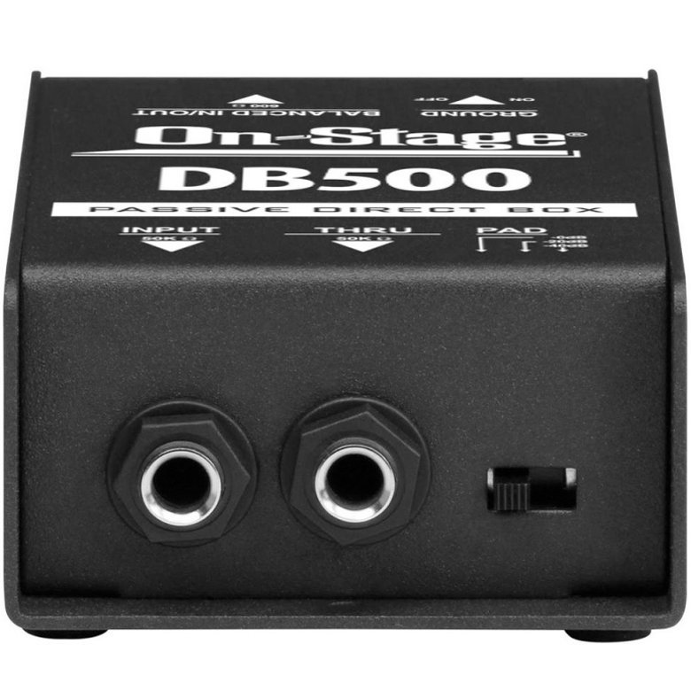 View larger image of On-Stage DB500 Passive Direct Box