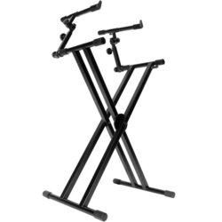 On-Stage Double X Ergo Lok 2 Tier Keyboard Stand