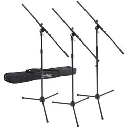On-Stage Euro Boom Microphone Stands - 3 Pack
