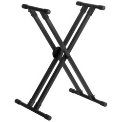 On-Stage Lok-Tight Pro Double-X ERGO-LOK Keyboard Stand