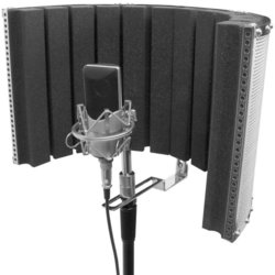 On-Stage Microphone Acoustic Isolation Shield