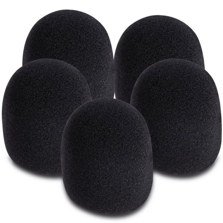 View larger image of On-Stage Microphone Windscreens - Black, 5 Pack
