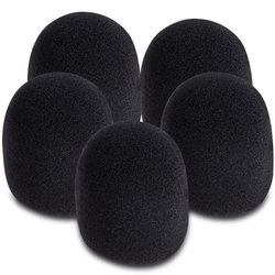 On-Stage Microphone Windscreens - Black, 5 Pack