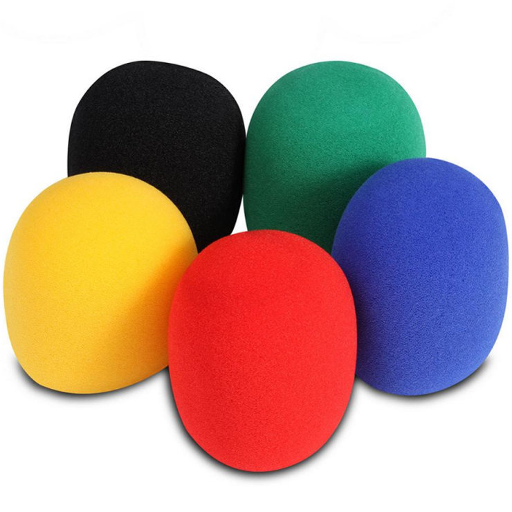 View larger image of On-Stage Microphone Windscreens - Multi, 5 Pack