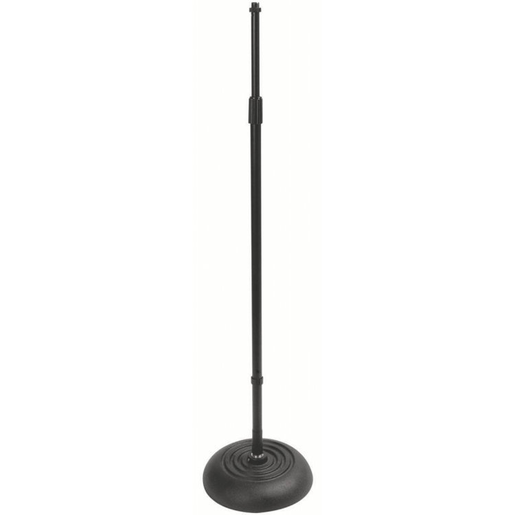 View larger image of On-Stage Quarter-Turn Round Base Threadless Microphone Stand - Black