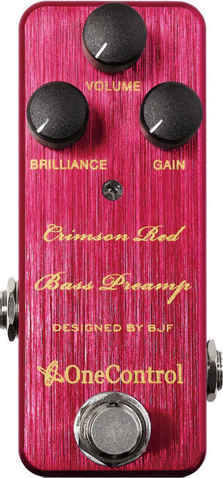 View larger image of One Control Crimson Red Bass Preamp Pedal