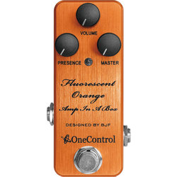One Control Fluorescent Orange Amp In A Box Distortion Pedal