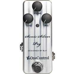 One-Control Sonic Silver Peg Bass Preamp Pedal