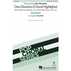 One Direction (Choral Highlights), 2PT Parts