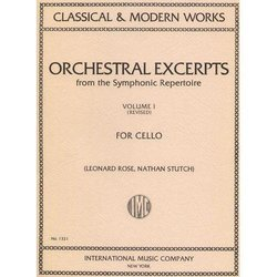 Orchestral Excerpts for Cello - Volume 1