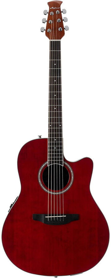 View larger image of Ovation Applause Balladeer AB24II-RR Acoustic Guitar - Ruby Red