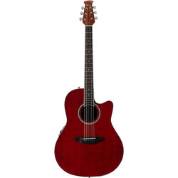 Ovation Applause Balladeer AB24II-RR Acoustic Guitar - Ruby Red