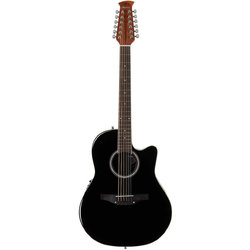 Ovation Applause Standard 12-String Acoustic-Electric Guitar - Black