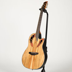 Ovation Celebrity Elite Exotic Acoustic-Electric Guitar - Natural Spalted Maple