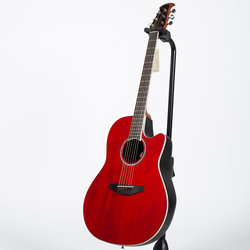 Ovation Celebrity Standard Acoustic-Electric Guitar - Ruby Red