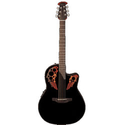 Ovation Elite Celebrity Mid-Depth Acoustic - Black