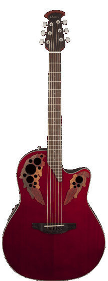 View larger image of Ovation Elite Celebrity Mid-Depth Acoustic - Ruby Red