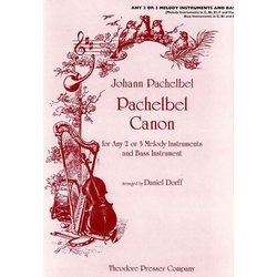 Pachelbel Canon in D (For any 2 or 3 Melody Instruments)