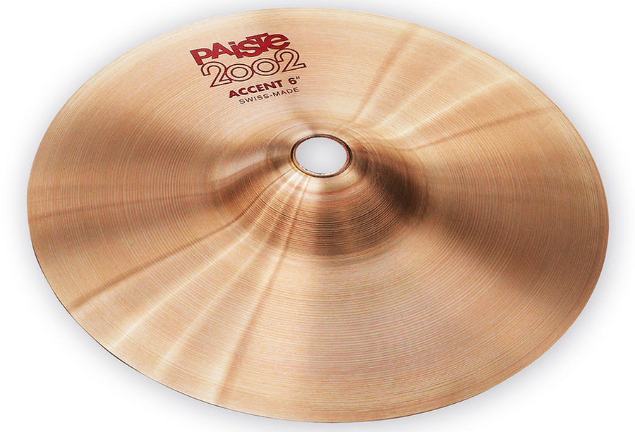 View larger image of Paiste 2002 Accent Cymbal with Leather Strap - 6