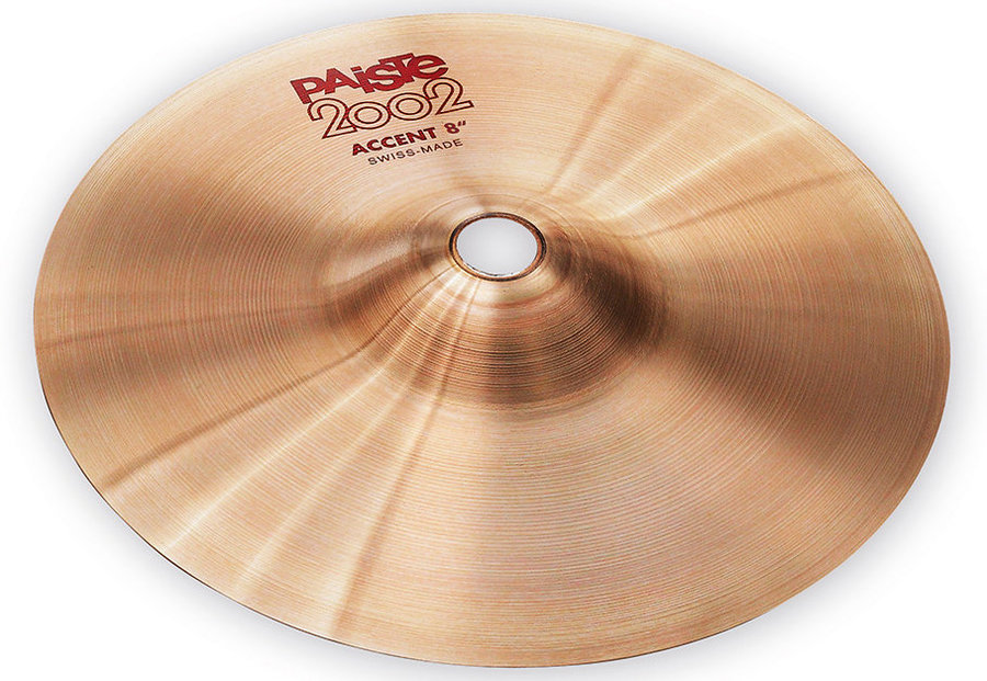View larger image of Paiste 2002 Accent Cymbal with Leather Strap - 8, Pair