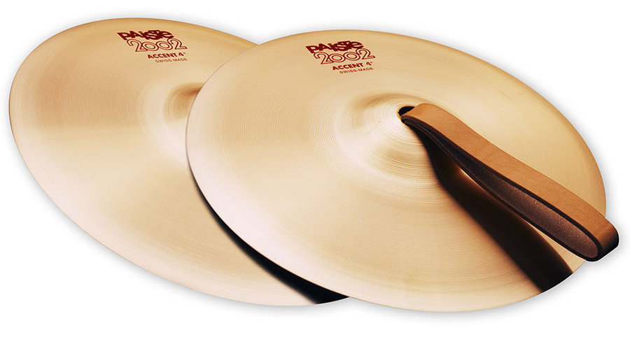 View larger image of Paiste 2002 Accent Cymbals with Leather Strap - 4, Pair