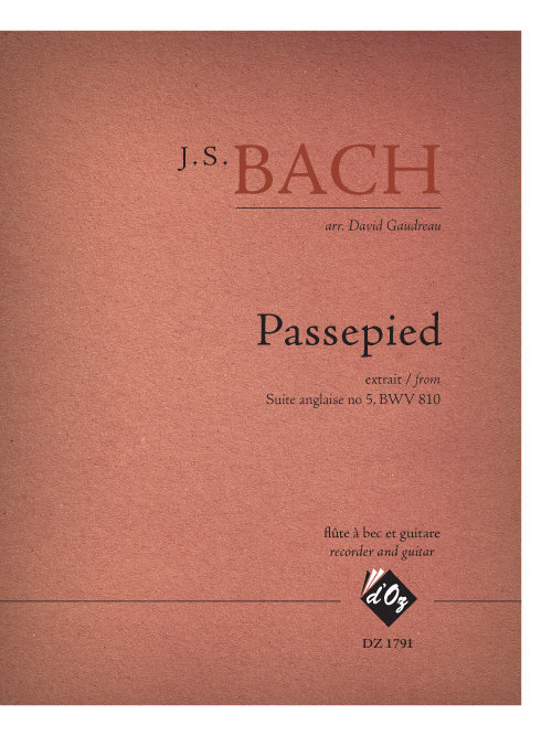 View larger image of Passepied (Bach) - Guitar & Flute Duet