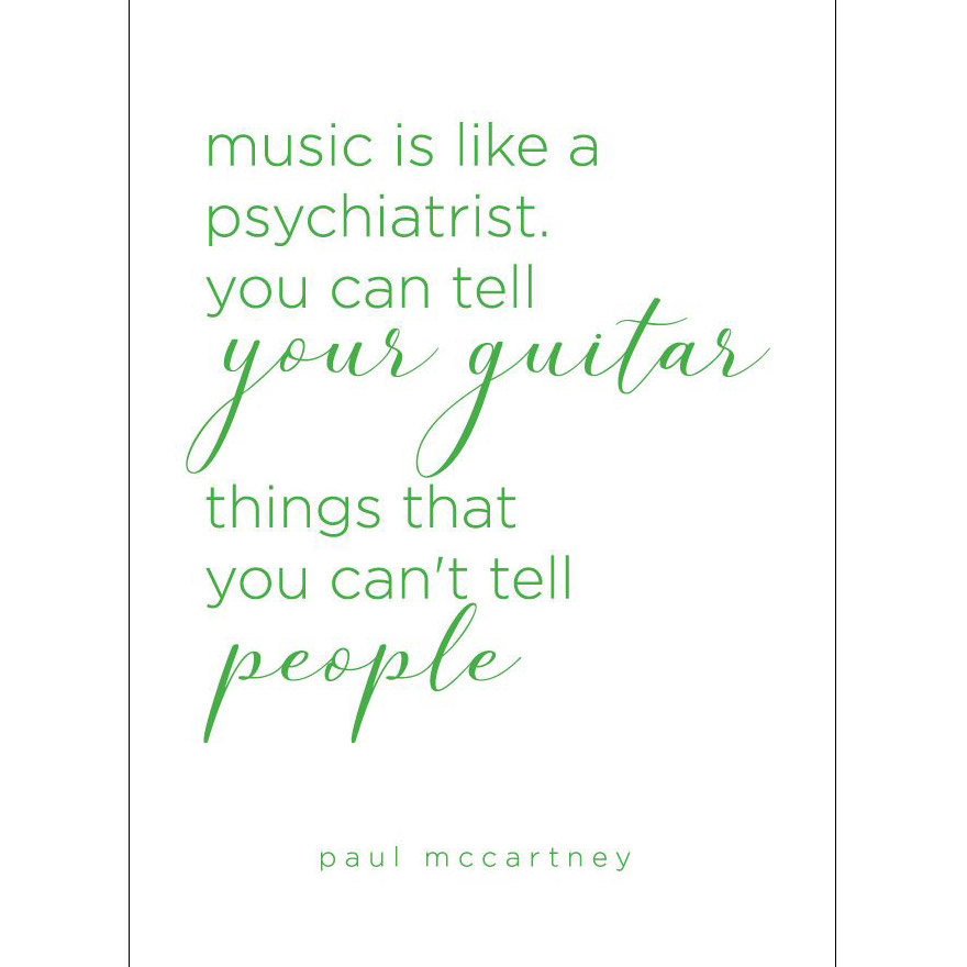 View larger image of Paul McCartney Quote Greeting Card