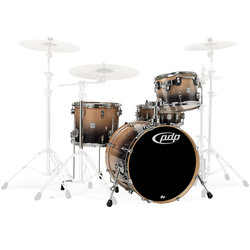 PDP Concept Birch 4-Piece Shell Pack - 20/14SD/14FT/12, Natural to Charcoal Fade