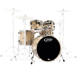 PDP Concept Maple 5-Piece Shell Pack - 22/14SD/16FT/12/10, Natural