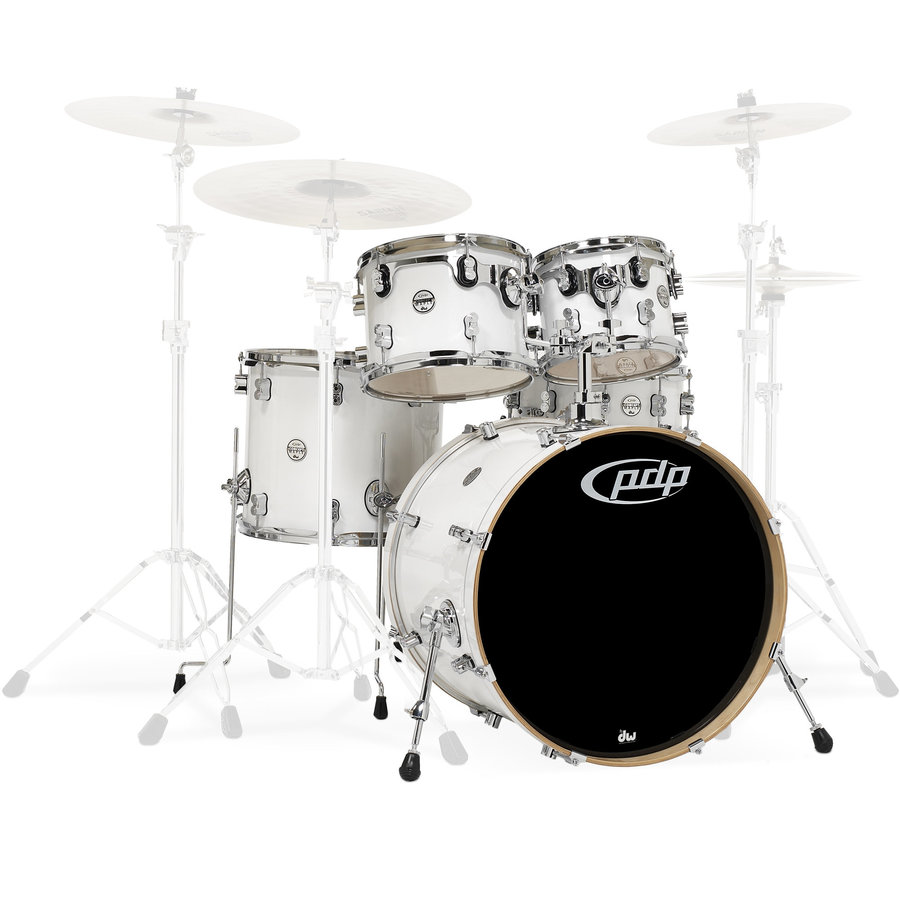 View larger image of PDP Concept Maple 5-Piece Shell Pack - 22/14SD/16FT/12/10, Pearlescent White