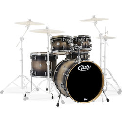 PDP Concept Maple 5-Piece Shell Pack - 22/14SD/16FT/12/10, Satin Charcoal Burst