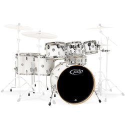 PDP Concept Maple 7-Piece Shell Pack - 22/14SD/16FT/14FT/12/10/8, Pearlescent White