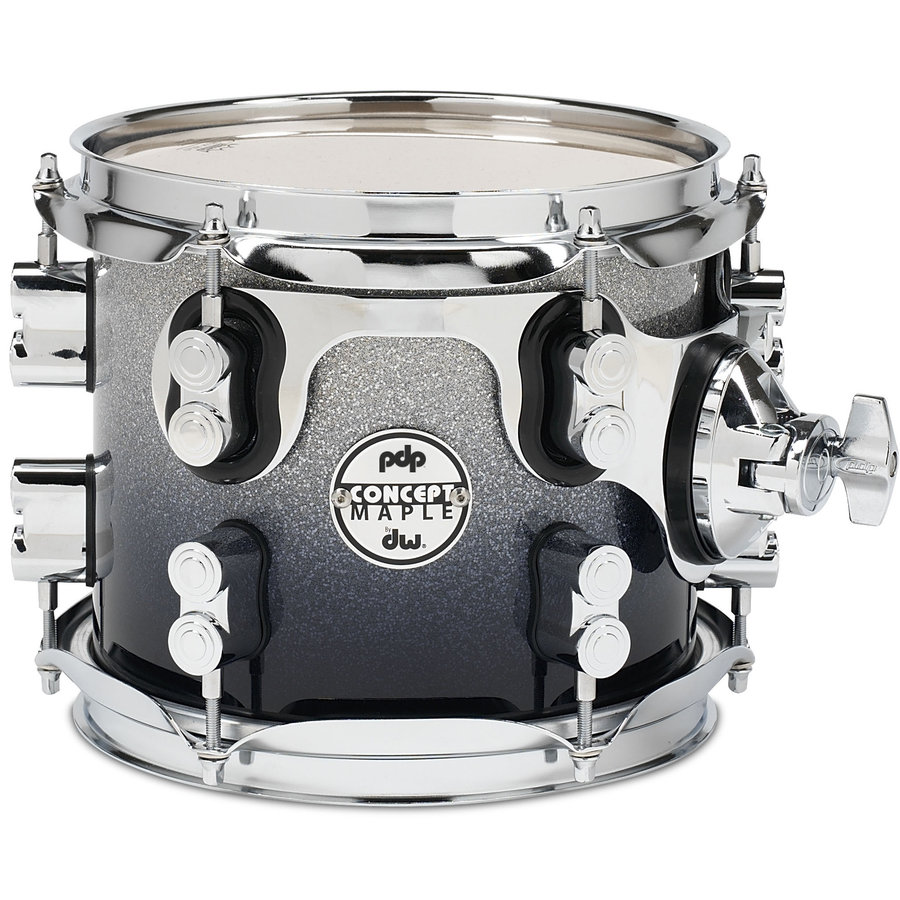 View larger image of PDP Concept Maple 7-Piece Shell Pack - 22/14SD/16FT/14FT/12/10/8, Silver to Black Fade