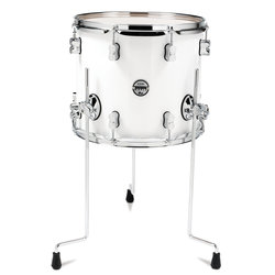 PDP Concept Maple Floor Tom - 12x14, Pearl White