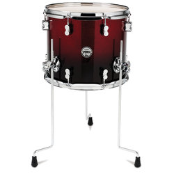 PDP Concept Maple Floor Tom - 12x14, Red to Black Sparkle Fade