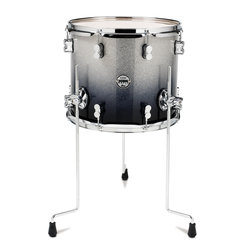 PDP Concept Maple Floor Tom - 12x14, Silver to Black Sparkle Fade