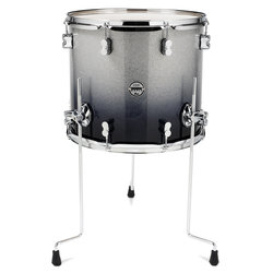 PDP Concept Maple Floor Tom - 14x16, Silver to Black Sparkle Fade