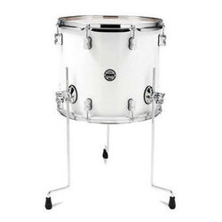 PDP Concept Maple Floor Tom - 16x18, Pearl White
