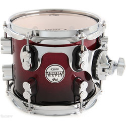PDP Concept Maple Floor Tom - 16x18, Red/Black