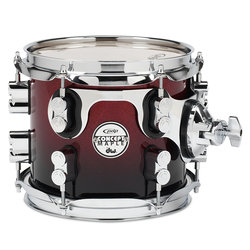 PDP Concept Maple Rack Tom - 7x8, Red to Black Fade