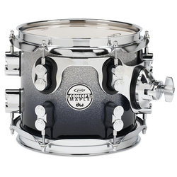 PDP Concept Maple Rack Tom - 7x8, Silver to Black Fade