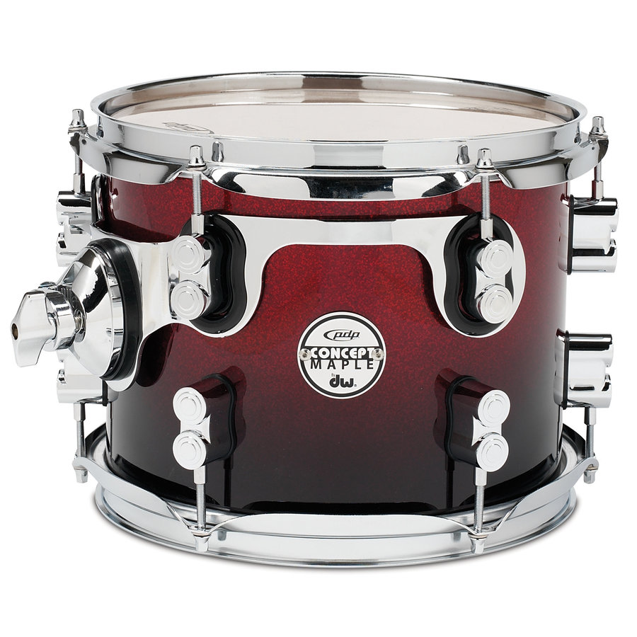 View larger image of PDP Concept Maple Rack Tom - 8x10, Red to Black Fade